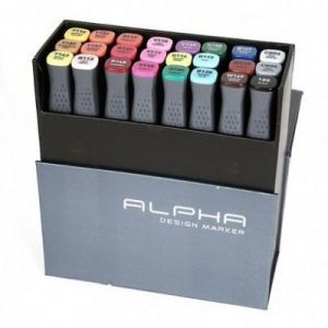 Montana Alpha marker set 24 – ( more grey )