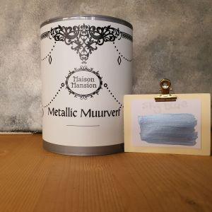 Sky Blue Metallic muurverf 1 liter Maisonmansion