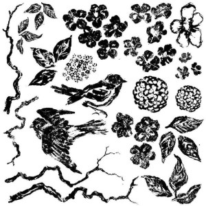 Bird Branches and Blossoms Stamp