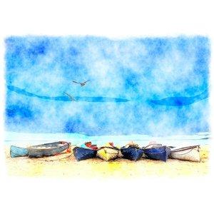 Coastal Blue decoupage