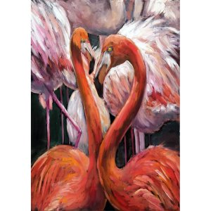 Flamingo decoupage
