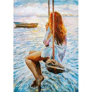 Girl On A Swing  decoupage