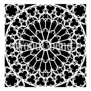 Stone Rosette sjabloon 40 x 40 cm