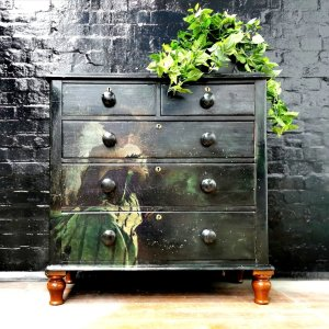Study in Black & Green decoupage