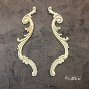 Decorative Scrolls Set 25 x 4 cm WoodUbend 1309