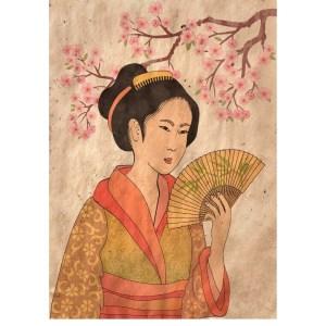 Reverse Geisha decoupage