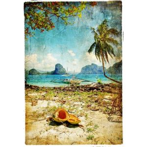 Tropical Beach decoupage