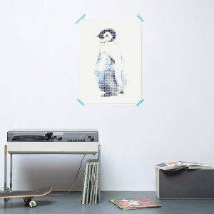 Pinguin kid DIY poster 30 x 40 cm