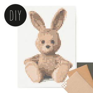 Bunny DIY poster 50 x 70 cm