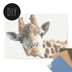 Giraffe DIY poster 50 x 70 cm