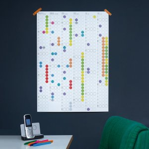 Half jaar planner 2022 DIY poster 50 x 69 cm