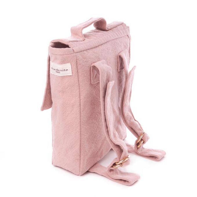 le sac à dos des tous petits minimes rose mineral rive droite