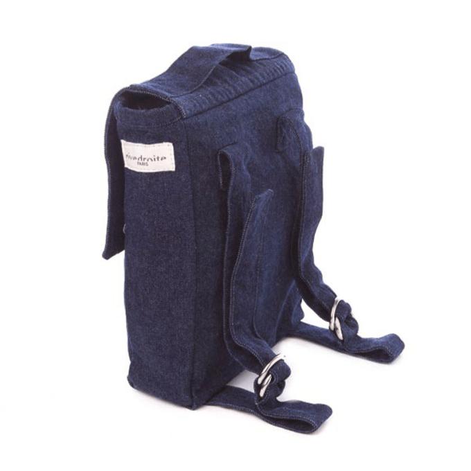 le sac à dos des tous petits minimes denim brut rive droite