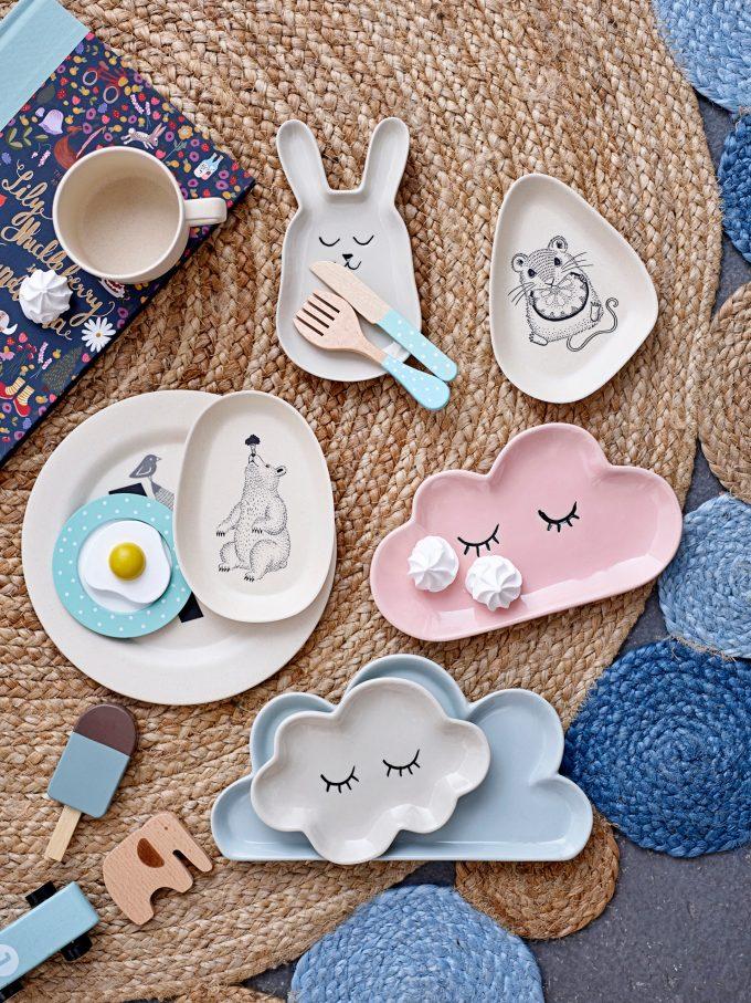 petite assiette nuage bloomingville mini