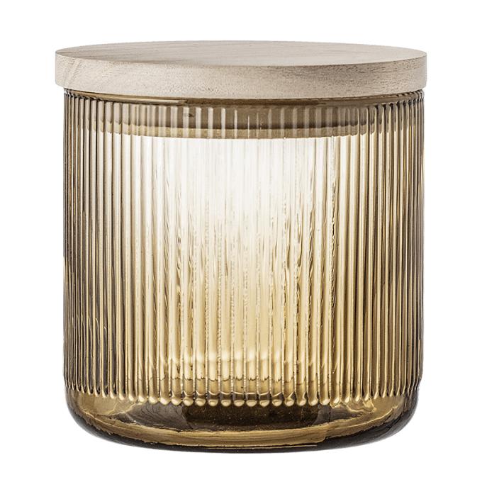 petite jar en verre marron bloomingville