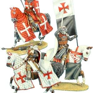 Mounted Crusader Knights