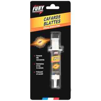 FURY - Gel insecticide anti cafards et blattes, seringue 10 Gr