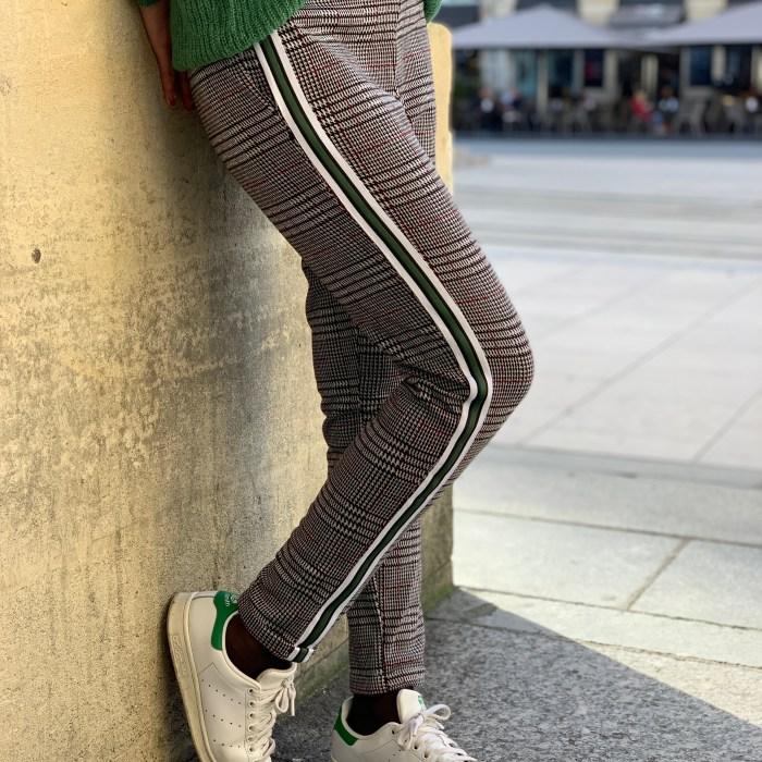 pantalon-imprimé-prince-de-galles-bandes-blendshe-maison-prune