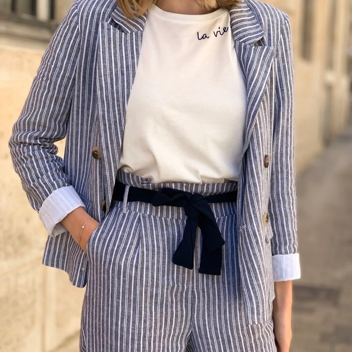 veste-rayée-bleu-blanc-lin-viscose-vila