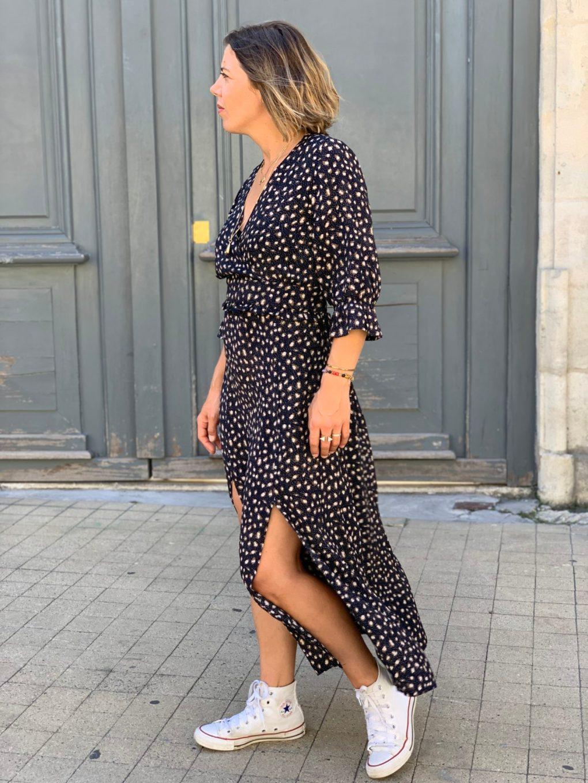 robe longue, robe fleurie, robe tendance, marque française