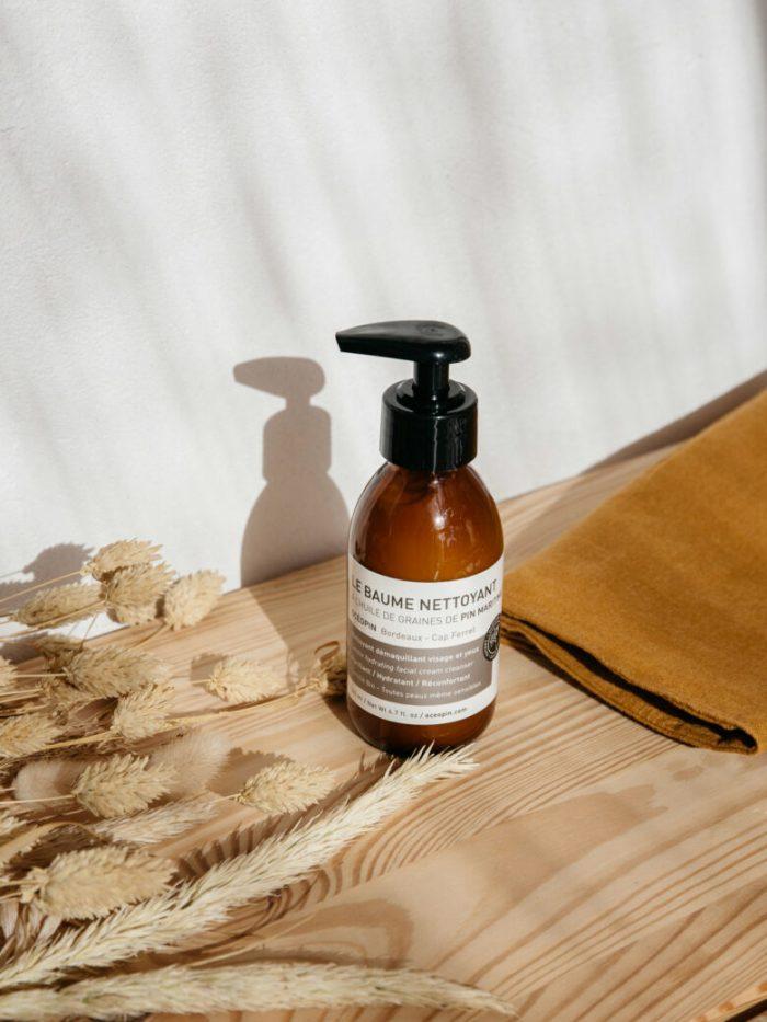 baume nettoyant, cosmetique naturelle, cosmetique bio, vegan, oceopin, cap ferret, cosmetique francaise