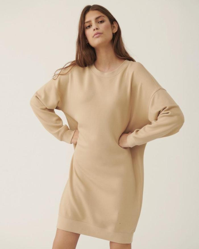 msch, robe, sweat, beige, nor, maison prune