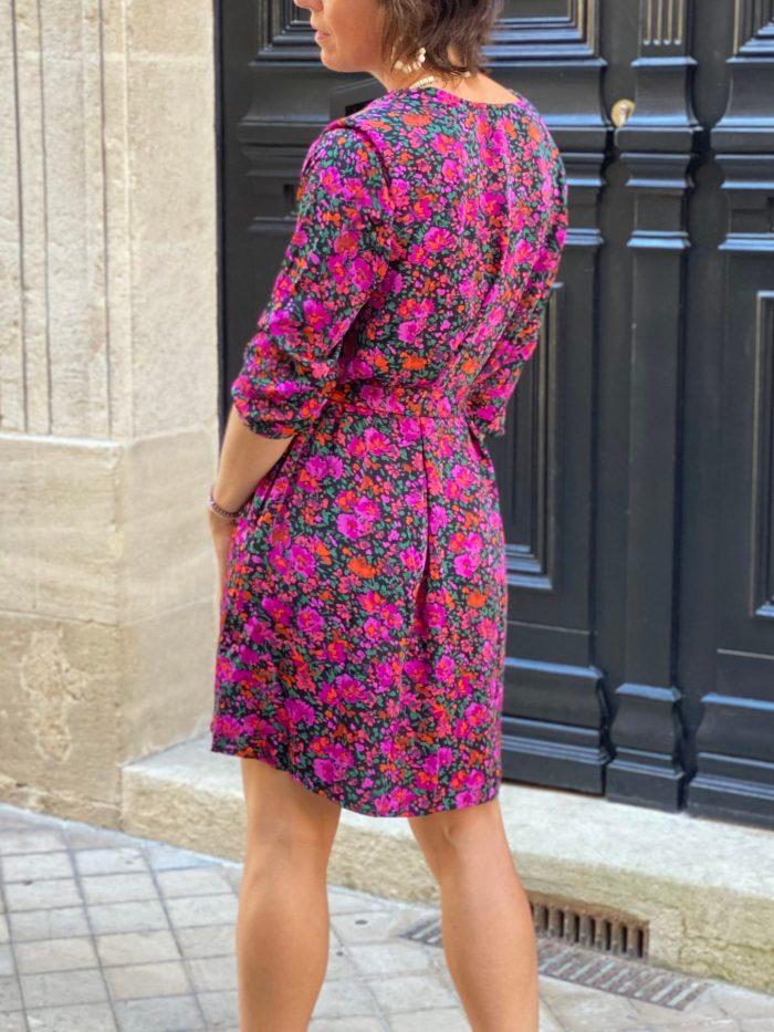 robe fleuri, robe fuchsia, almea, maison prune