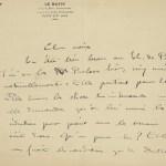 Colette - Lettre à Maurice Ravel