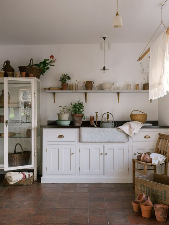 cuisine au style campagne chic