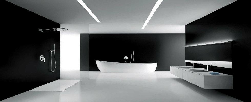 MODERN BLACK AND WHITE BATHROOM Maison Valentina Blog