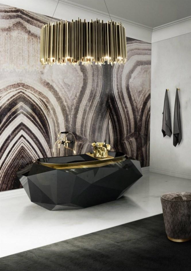 The Right Tips For Your Luxury Bathroom Maison Valentina Diamond Bathtub Black Indulgence