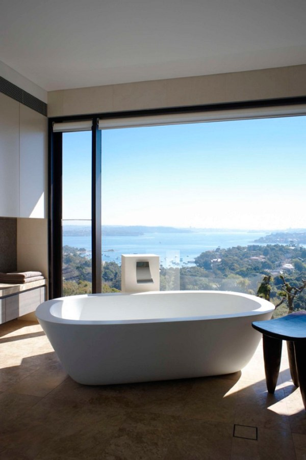 Make a splash into your bathroom with floor-to-ceiling windows
