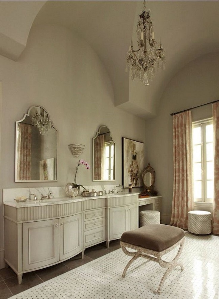 Add Chairs And Stools To Your Bathroom Design
