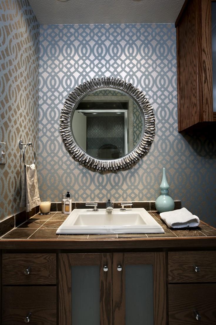 mid century modern small bathroom