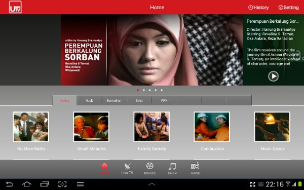Nonton TV di Android Tablet (1/4)