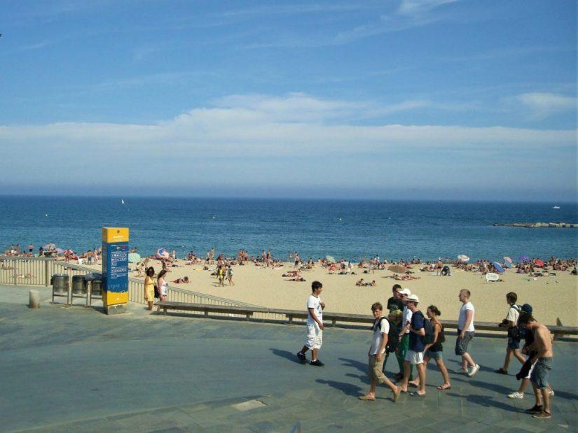 Praia La Barceloneta em Barcelona