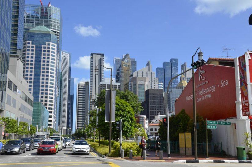 Prédios comercias de Singapura