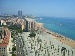 Vista do teleférico para a praia