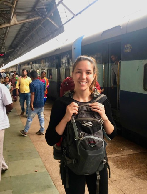 Viajando de trem na Índia