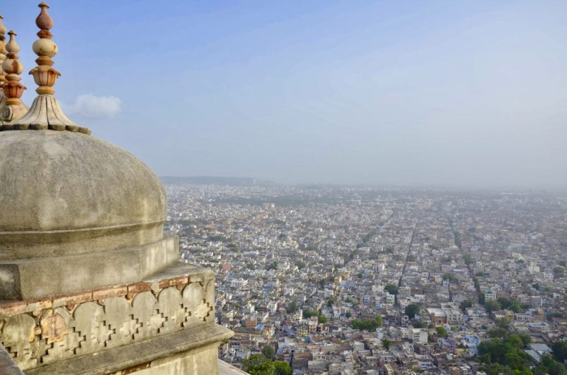 Vista panorâmica de Jaipur, Forte Nahargarh