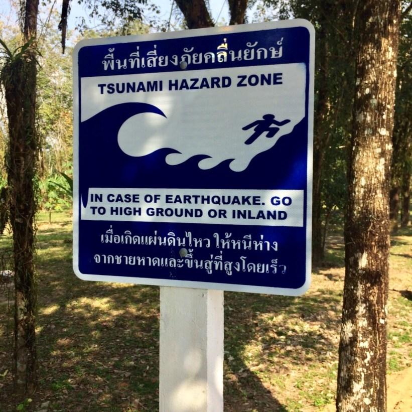 Tsunami sign, Thailand