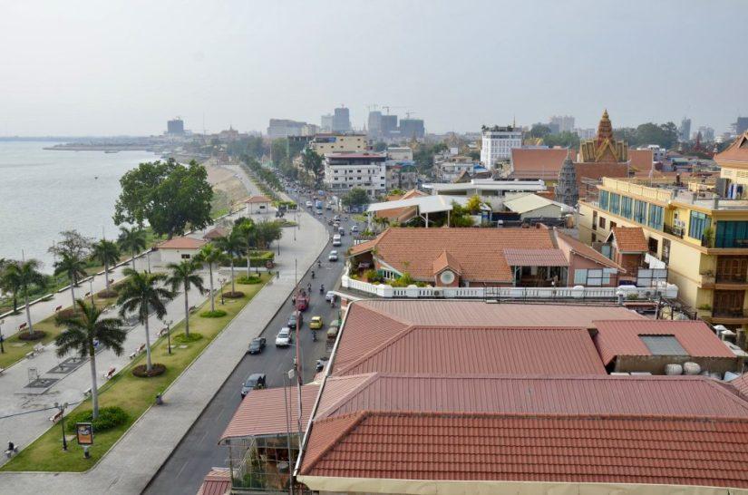 Cidade de Phnom Penh no Camboja