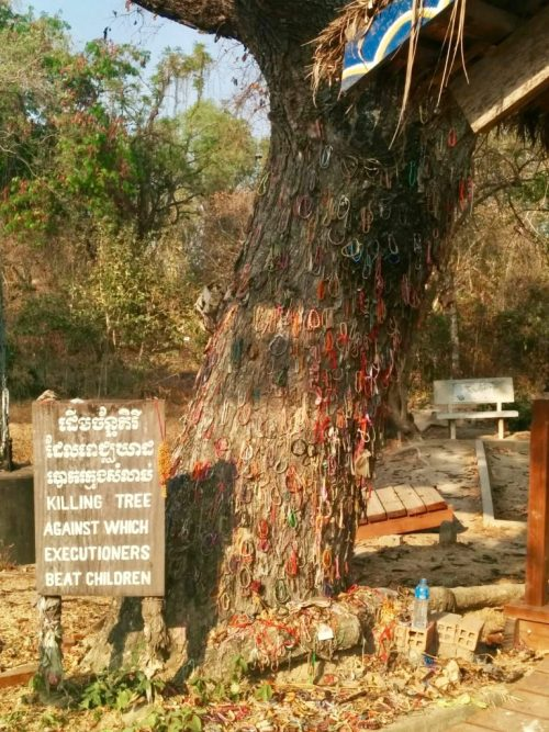 Killing tree, Campo de Extermínio Choeung Ek no Camboja