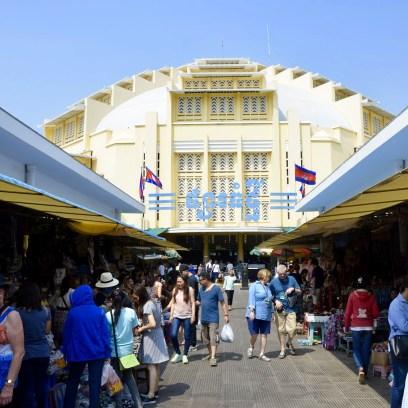 Mercado Central de Phnom Penh, no Camboja.