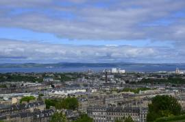 Vista do Calton Hill em Edimburgo