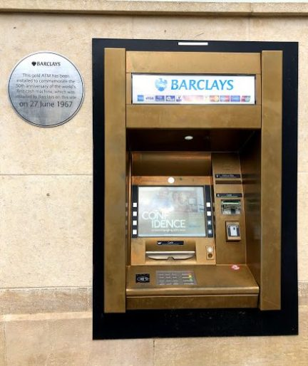 Barclays Bank golden ATM (1)