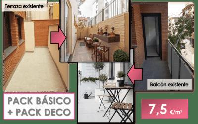 Pack Básico + Pack Deco. Cómo decorar una terraza y un balcón para sacarles el máximo partido