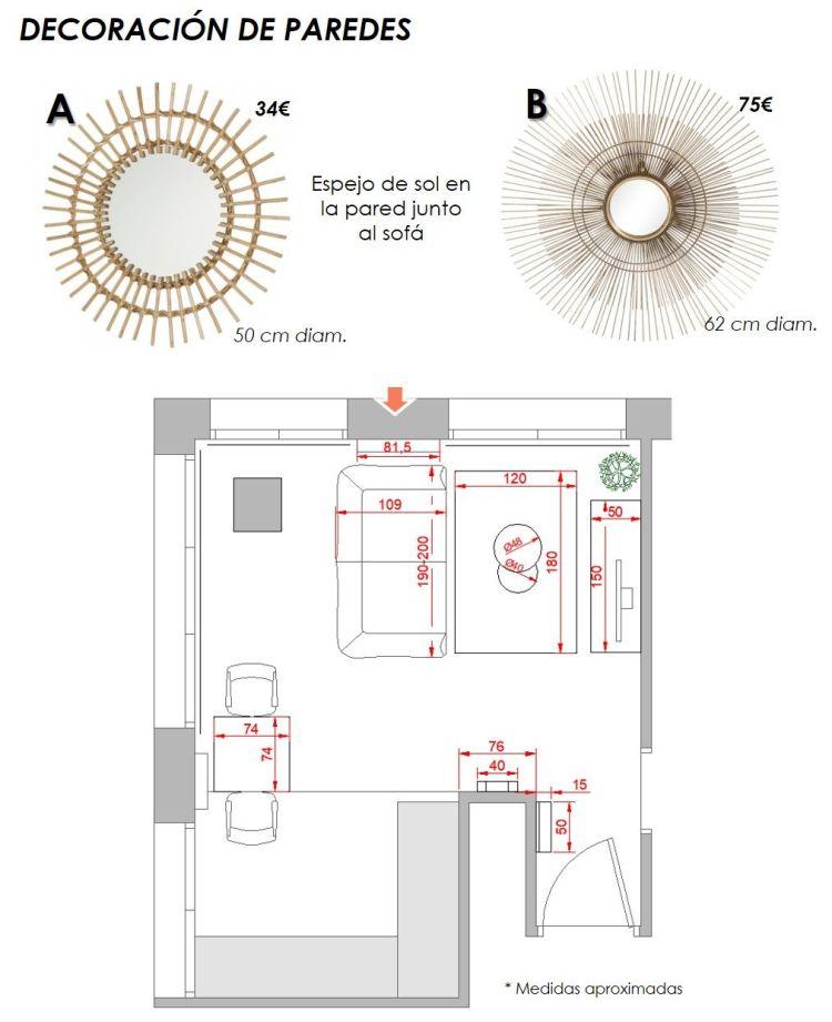 propuesta decorativa para recibidor, salón y cocina 13