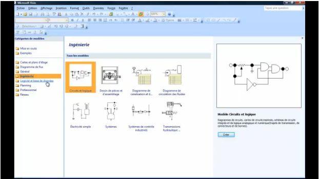 Visio 2007 présentation général de l'interface V3