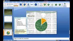 Powerpoint 2007 graphique smartart avec effet